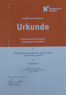 germannow urkunde